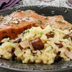 Easy Baked Mushroom and Onion Risotto