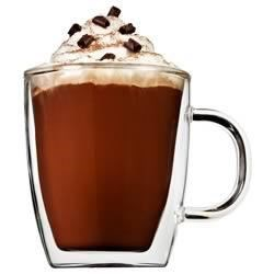 Hot Mocha Recipe - This warming drink, a treat for coffee and chocolate lovers alike, combines the two under a layer of creamy foamed milk. Skim milk foams easily and makes a deceptively lean, yet rich topping. Enjoy it in the morning, as an afternoon break, and as a lean, luscious, liquid dessert.