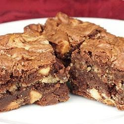 Peanut Butter Brownies I Recipe - Use this easy recipe to make chewy, peanut butter-y brownies!