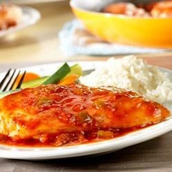 Orange Picante Chicken Recipe - Looking for a new and exciting recipe to perk up chicken? Try this flavor-packed, sweet and spicy dish that's on the table in 30 minutes.
