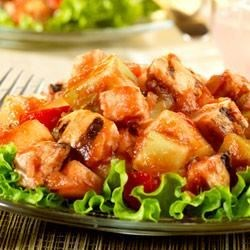 Citrus-Picante Chicken and Melon Salad
