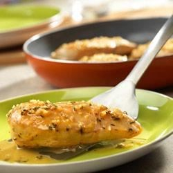 Chicken with White Wine Sauce Recipe - Not willing to sacrifice flavor for speed? Try this 30-minute skillet dish that delivers lots of savory flavor without a lot of effort!