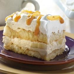 Caramel Banana Tiramisu Recipe - A great fall dish! This classic Italian dessert with a caramel apple twist uses Marzetti(R) Old Fashioned Caramel Dip.
