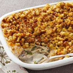 Creamy Stuffing-Topped Turkey