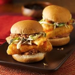 Fish Taco Torta Sliders Recipe - Tortas are the Mexican version of a sandwich. Try Old El Paso's(R) take on a fish taco sandwich.  The mini size make this a dish the kids will also love!