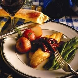 Northeast Catfish With Cabernet and Green Peppercorns