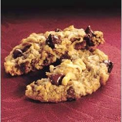 Chocolate Chip Treasure Cookies Recipe - Walnuts, chocolate chips, and coconut will keep them coming back for more!