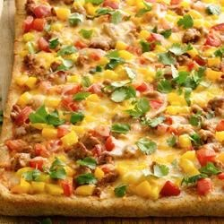 Taco Pizza from Pillsbury(R) Artisan Pizza Crust Recipe - If your family enjoys tacos, then why not top a pizza with the same delicious combination? Easy and so delicious!
