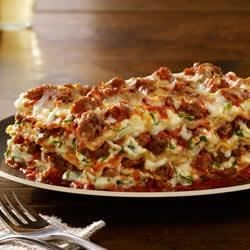 Johnsonville Italian All Natural Ground Sausage Lasagna Recipe - This easy-to-make lasagna has all the classic flavors of Italian-seasoned sausage, ricotta cheese, and fresh spinach, plus plenty of gooey mozzarella cheese.