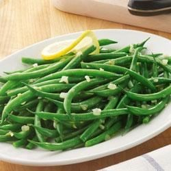 Becel(R) Savoury Braised Green Beans Recipe - Fresh green beans are cooked until just crisp tender with garlic in a buttery tasting sauce. Try this recipe tonight using Becel(R) Buttery Taste, with  irresistible flavor and 80% less saturated fat than butter.