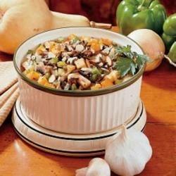 Wild Rice and Squash Pilaf