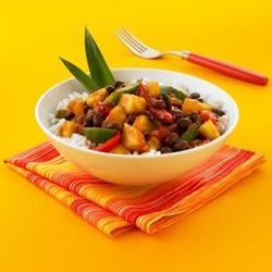 Caribbean Black Beans, Peppers and Pineapple