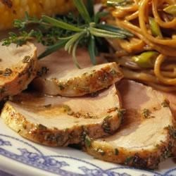 Grilled Pork Tenderloin with Balsamic Vinegar Recipe - Serve these flavorful tenderloins with Peanut-Sauced Noodles and grilled corn on the cob.
