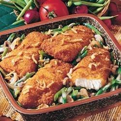 Crunchy Green Bean and Fish Fillet Casserole