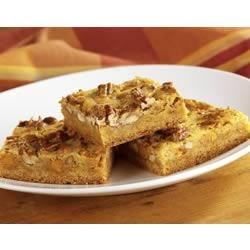 Butterscotch Blondies Recipe - Blonde brownies are dotted with butterscotch chips to make these chewy bars extra delicious.