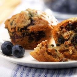 Blueberry Bran Muffins Recipe - Try delicious Blueberry Bran Muffins from Ocean Spray for a treat the whole family can enjoy all summer long.