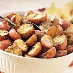 Crispy Pesto Potatoes