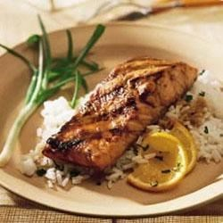 Grilled Salmon with Ginger-Orange Glaze