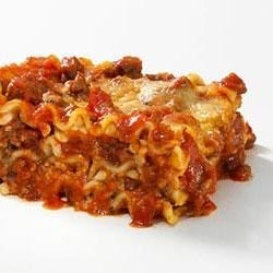 Quick and Easy Lasagna Recipe - Older children can pitch in to help put this easy casserole together for a family-style dinner.