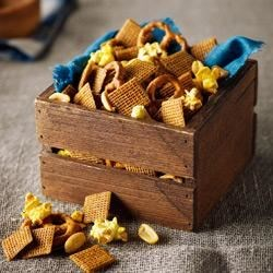 Shreddies Honey Mustard Munch Mix Recipe - Tossed with a mixture of mustard, honey, and garlic and onion powders, this party mix is sure to be a hit--and it's ready to serve in minutes!