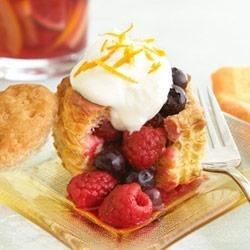 Orange Berries Chantilly Puffs