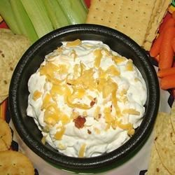 The Best Bacon-Tomato Dip Recipe - Serve this quick, easy and versatile dip with your choice of cracker, bread or crisp vegetable.  Great for entertaining guests, as an appetizer or for an indulgent anytime snack.