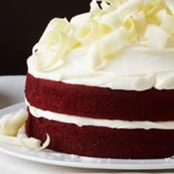 Red Velvet Cake by Duncan Hines(R) Recipe - Originally from Down South, and once the signature dessert at the Waldorf-Astoria in the 1920s, the Red Velvet Cake has become an American favorite. It's hip, fun, and easy to make. Red Velvet Cake is a hit at every party.