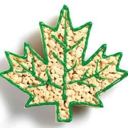 KELLOGG'S* RICE KRISPIES* Maple Leaf Cut-Outs