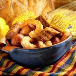 Bratwurst and Shrimp Boil