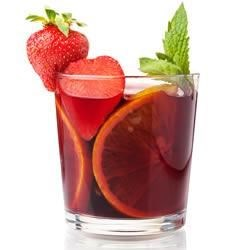 Sangria On The Light Side Recipe - Lots of citrus flavors and sliced fresh fruit make a refreshing red-wine sangria, and this recipe makes enough for a crowd.