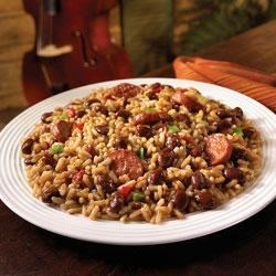 Uptown Red Beans and Rice Recipe - Filling, flavorful and easy to make, this New Orleans-style dish is a Monday night tradition in Louisiana. And the addition of smoked turkey sausage makes it perfect as a delicious meal all by itself, or as a robust side.