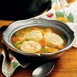 Chicken Soup with Stuffed Noodles