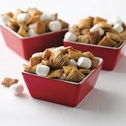 Hot Buttered Yum Chex(R) Mix Recipe - Stir up a rich and buttery mix married with delicate spices and rum flavoring.