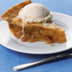 Blue Ribbon Caramel Apple Pie Recipe - Caramel, apples, and pecans create a perfect pie!