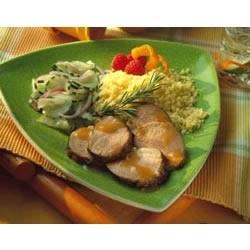 Apricot-Mustard Grilled Pork Tenderloin Recipe - This quick and simple recipe can be served with couscous and a cool cucumber and onion salad in Italian dressing.