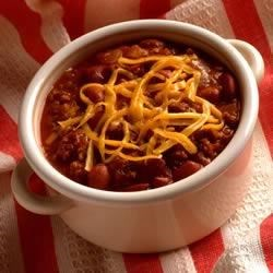 Simply Sensational Chili Recipe - Classic, medium strength chili the whole family will enjoy. The slow-simmer method takes a little longer, but the results are worth the wait. We used pinto beans, but you can substitute red kidney or black beans.