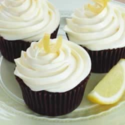 Lemon Chocolate Cupcakes Recipe - Fresh lemon and lemon curd lend a citrusy contrast to the sweet chocolate in these Duncan Hines cupcakes.