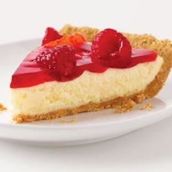 Raspberry Glace Cheesecake Pie