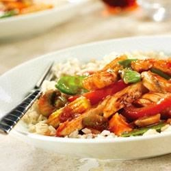 Speedy Chicken Stir-Fry by Campbell's Kitchen Recipe - Rushing to get dinner on the table? Relax...all you need is 6 ingredients and 20 minutes and you've got a dish that's much tastier than take-out!