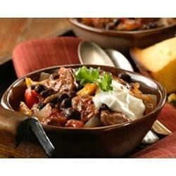 Black Bean Chili Recipe - Basic ingredients that go together easily. Let slow cook during the day and come home to a hearty chili. Serve with tortilla chips and a green salad.