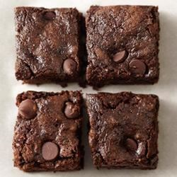 Whole-Wheat Dark Chocolate Zucchini Brownies Recipe - Moist, chocolatey, and delicious, these double-chocolate brownies will disappear fast.
