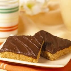 Peanut Butter Crunch Bars Recipe - Chocolate and peanut butter are a perfect combination in this snack recipe that's always welcome in a lunch bag.