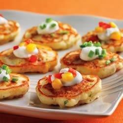 Southwestern Mini Corn Cake Appetizers