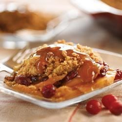Apple Peanut Butter Crisp Recipe - Use the microwave to prepare this delicious peanut butter and apple dessert in minutes.