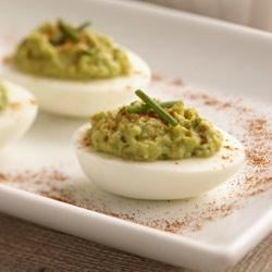Wholly Guacamole(R) Deviled Eggs Recipe - These deviled eggs are sinfully delicious. You won't be able to eat just one.