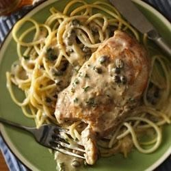 Progresso(R) Creamy Chicken Piccata Recipe - Liven up chicken dinner with this chicken piccata recipe. The creamy sauce will please even the pickiest of eaters.