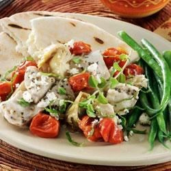 Greek Chicken with Tomatoes, Artichokes and Feta