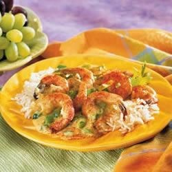 Fabulous Fast Shrimp Recipe - Shrimp sautes quickly in butter with 'trinity'--Creole for green pepper, onion and celery--and is stirred into a creamy sauce to crown hot rice.