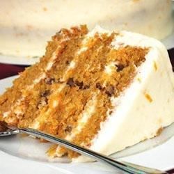 Carrot Cake IX Recipe - This is a great carrot cake recipe that is very simple and it doesn't have  all those spices.