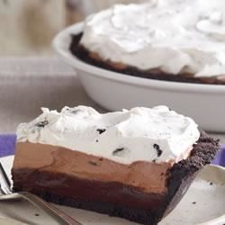OREO Triple-Layer Chocolate Pie Recipe - Refrigerated pies are perfect when you need a make-ahead dessert. With an OREO Cookie crust and three layers of chocolatey creamy goodness, we suspect that this creamy pie will make it on your list of family favorites.